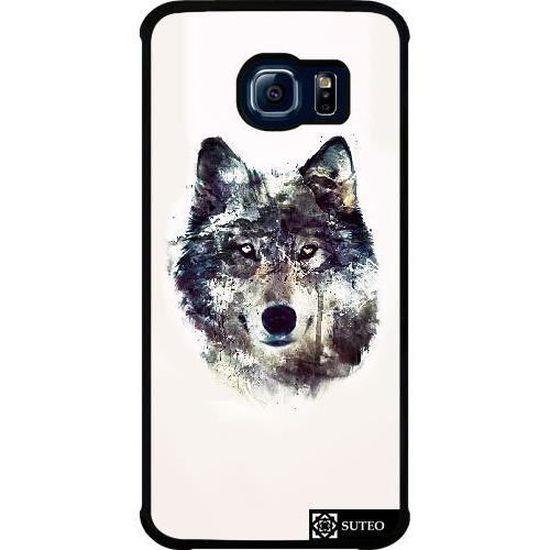 Coque Samsung Galaxy S6 EDGE (SM-G925) - Loup de face - 760 ...
