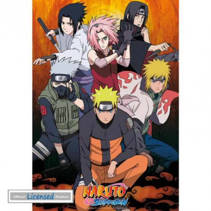 Naruto poster group 98 x 68 cm achat vente affiche for Decoration murale naruto
