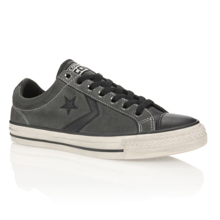 converse baskets star player vintage homme homme noir gris clair achat vente converse baskets. Black Bedroom Furniture Sets. Home Design Ideas