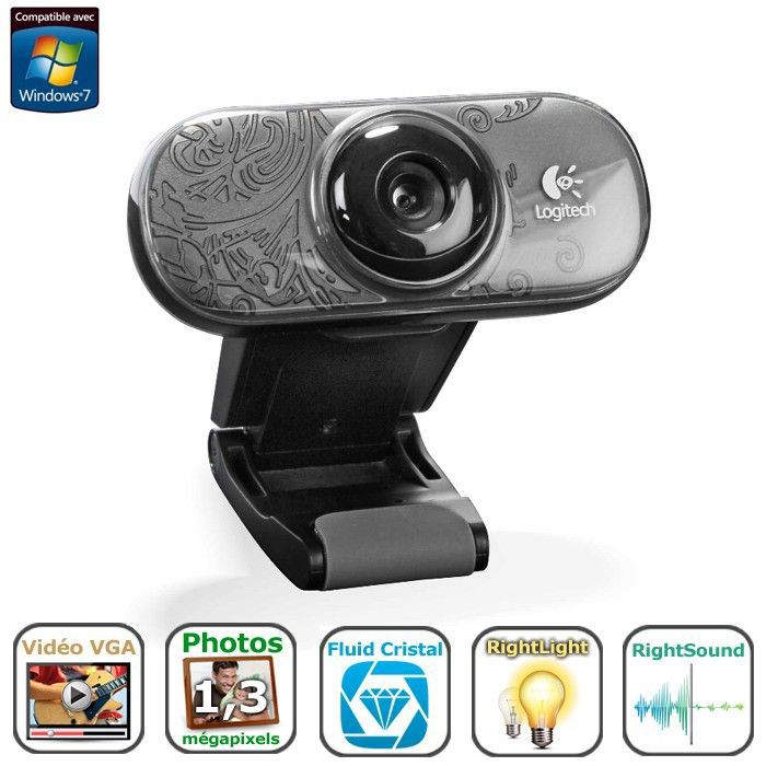 logitech webcam c210 prix pas cher cdiscount. Black Bedroom Furniture Sets. Home Design Ideas