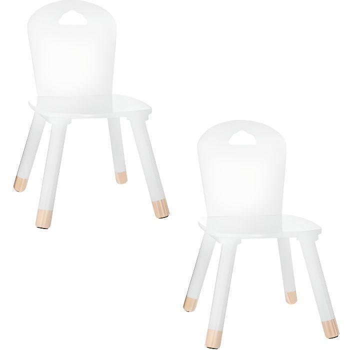 Lot de 2 chaises enfant Blanc Atmosphera for kids