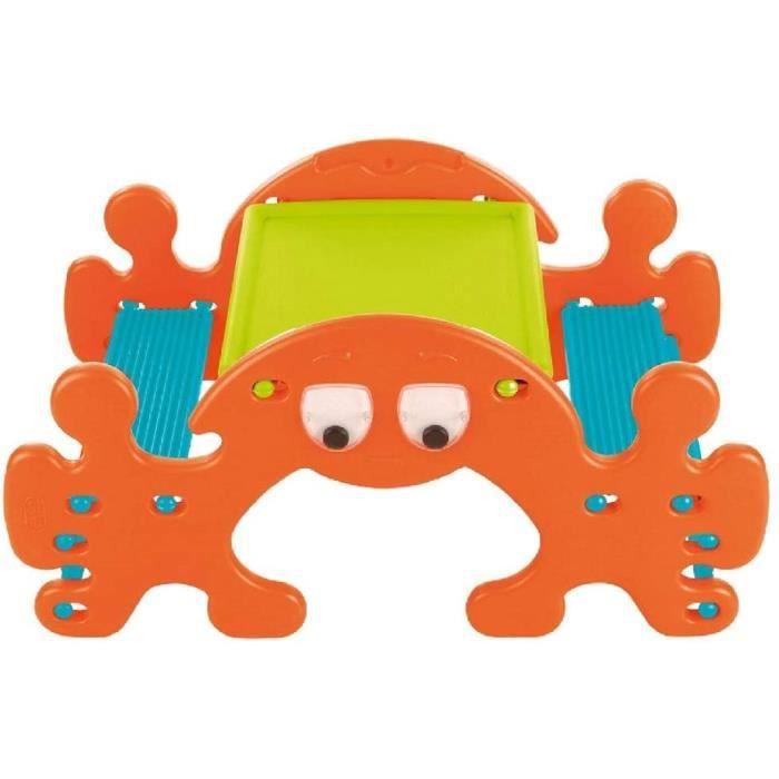 FEBER Ghost Picnic - Table de pique-nique, pour enfants de 1 à 3 ans, Orange (Famosa 800010242)