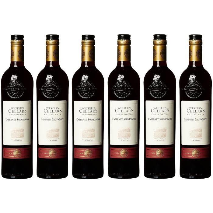Western Cellars - Vin Rouge de Californie - Cabernet Sauvignon - 6x75cl