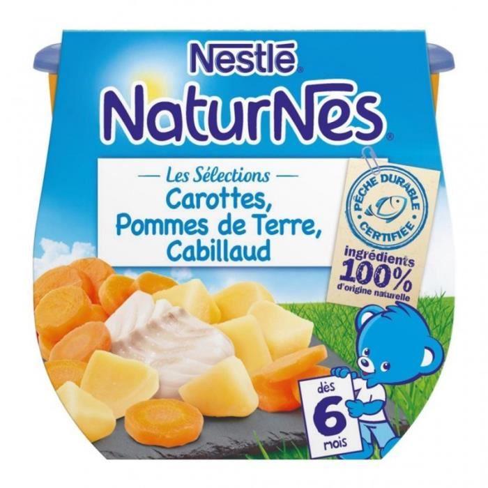 Nestlé Naturnes Les Sélections Carottes Pommes de Terre Cabillaud (dès 6 mois) par 2 pots de 200g (l