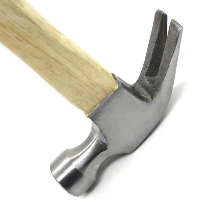 1pc marteau à griffes poignée en bois de ménage à pour bureau CUTTER
