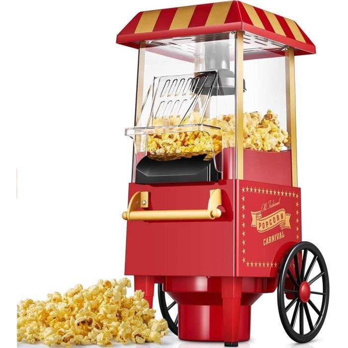 Machine à popcorn, Machine à pop-corn rétro avec air chaud, Sans graisse Sans gras Sans huile, Opération à un bouton, bon cade,477