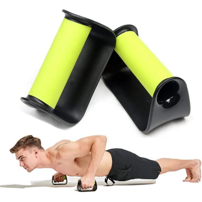 Équipement de fitness,Poignées de Pompe Push up Bar Stand Handle Barre d'entraînement du Haut du Corps,vert
