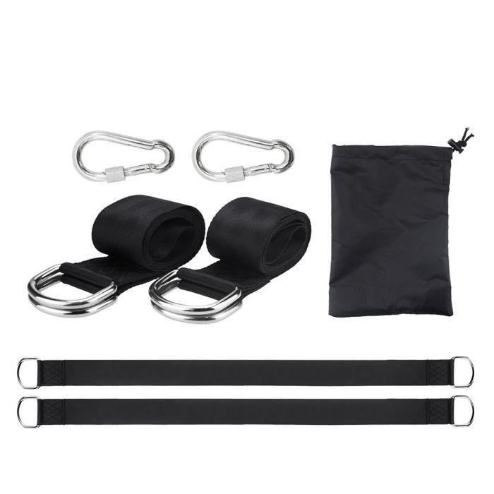 Hamac sangles polyester hamac sangles Camping Balançoire Lit Kit de fixation hamac suspendu accessoires So18790