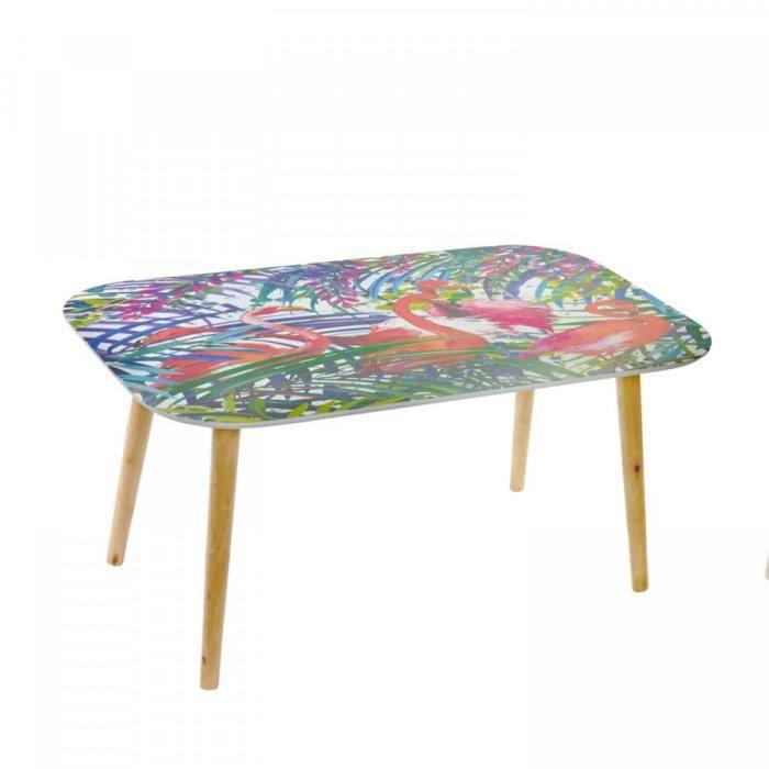 TABLE BASSE FLAMINGOS 100 X 60 CM 100 CM 100 cm