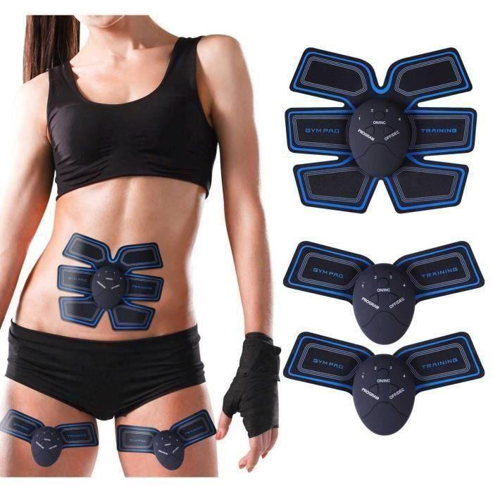 BK EMS Ceinture Électrostimulation Abdominale de fitness Homme Femme Musculation Corps Minceur Masseur Entraînement Abdomen-Bras