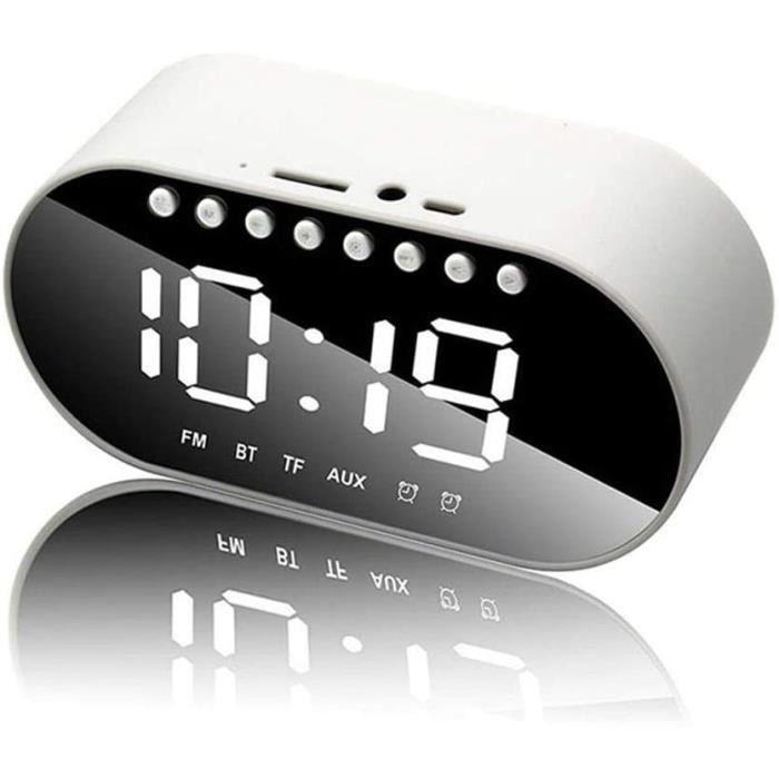 Réveil LED - Réveil Numérique Haut-parleur Bluetooth Compatible Avec Écran LCD Radio-réveil Lecteur De Musique Sans Fil Prise En Cha