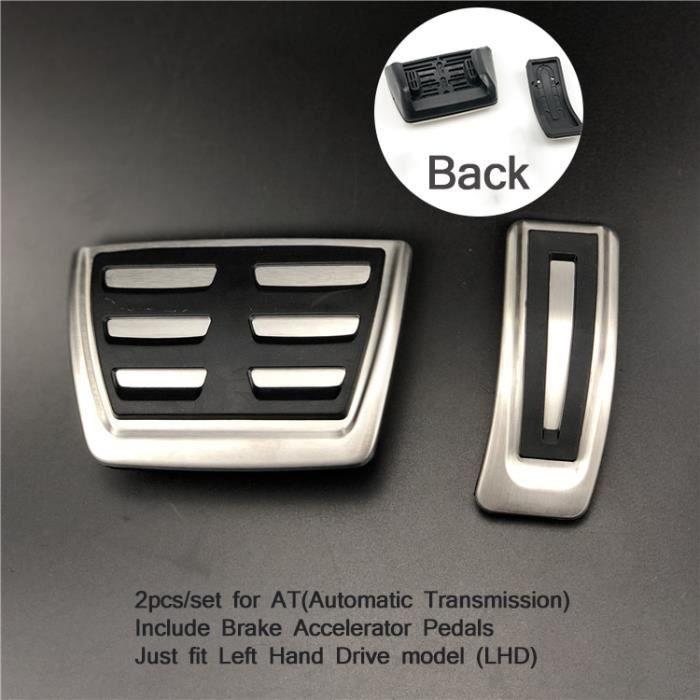 Pièces Auto,Plaque de pédale, accessoires de voiture pour Audi A4 A5 A6 S6 A7 Q5 B6 B7 B8 C5 C6, accélérateur Macan - Type AT 2pcs