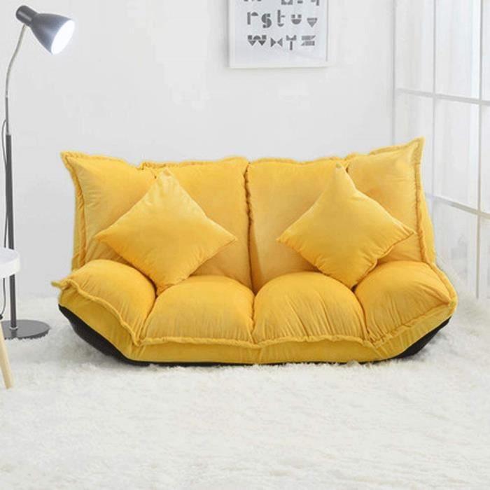 Canap Paresseux Pliant Simple et Petit Appartement Chambre Petit canap lit Chaise Pliant Jaune Divan lit Pliant102