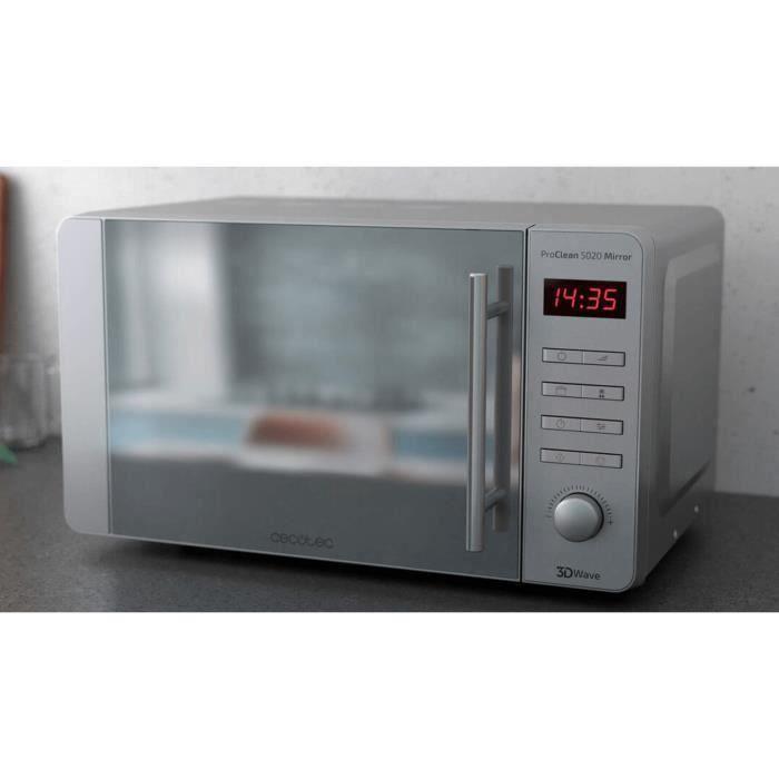 Micro-ondes de 20L avec minuterie en acier inoxydable 1150W gris