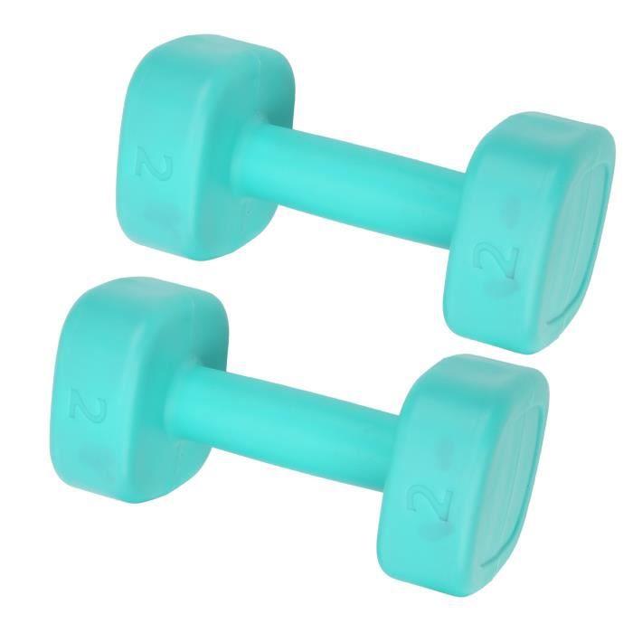 2pcs 4lb haltère fitness haltérophilie musculation yoga sport équipement de perte de poids (vert)-FUT