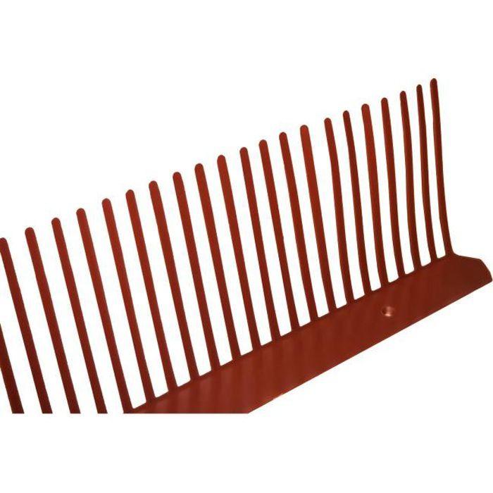 Peigne anti-moineaux en PVC (10ml) 100mm Rouge