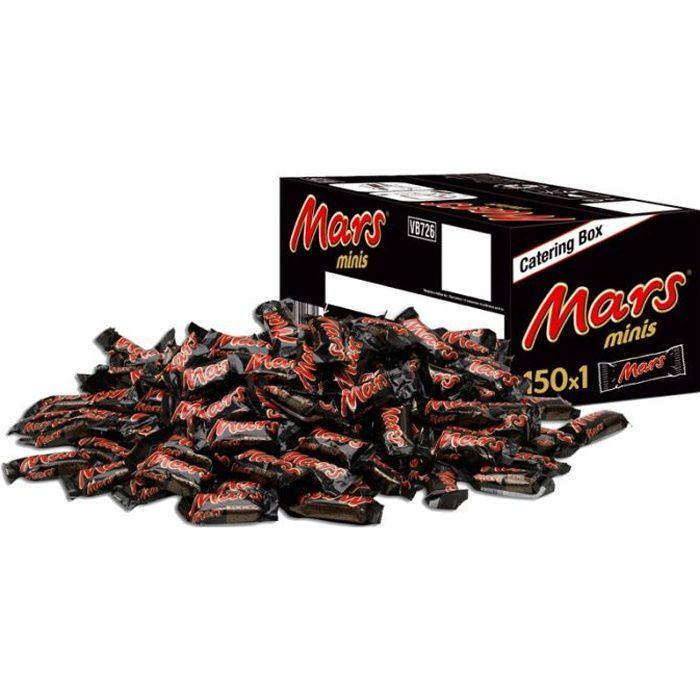 Carton de 300 barres de chocolat MARS MINIS