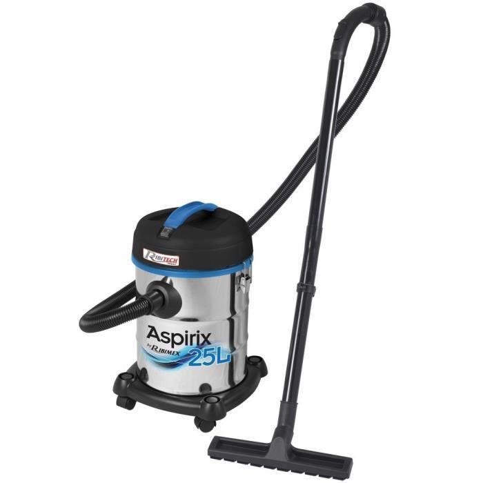 Aspirateur bidon - eau et poussières, 1200 W - inox