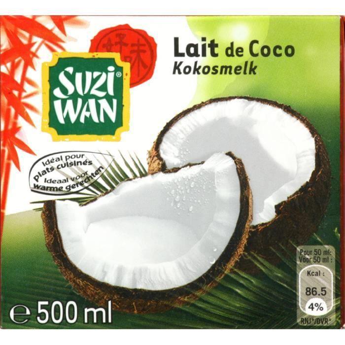 SUZI WAN Lait de coco - 500 ml