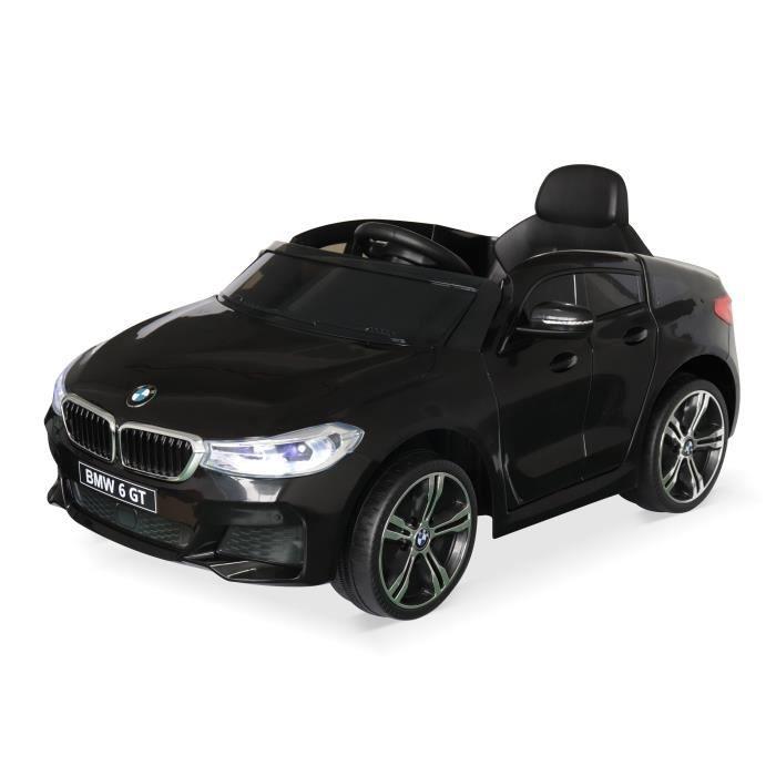 VOITURE ELECTRIQUE ENFANT BMW Série 6 GT Gran Turismo noire, voiture électri