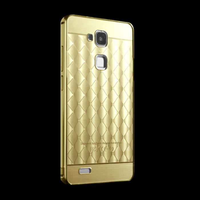 Coque housse etui huawei ascend mate 7 d 39 or fugousku for Housse huawei mate 8