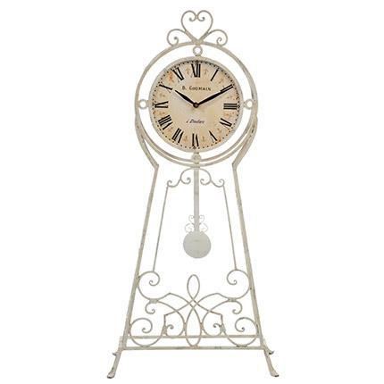 horloge pendule en fer forg achat vente horloge. Black Bedroom Furniture Sets. Home Design Ideas