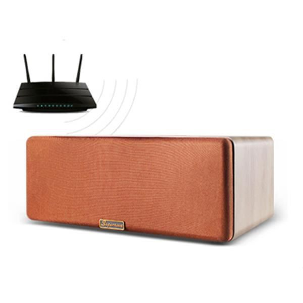 Enceinte bluetooth wifi bois intelligente home cin ma - Home cinema bluetooth ...