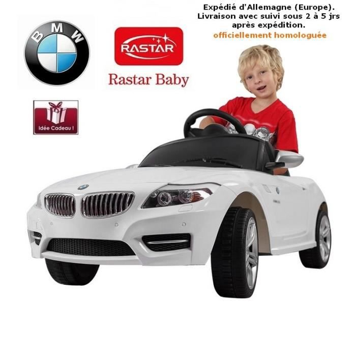 voiture lectrique 6v pour enfant bmw z4 blanc rastar. Black Bedroom Furniture Sets. Home Design Ideas