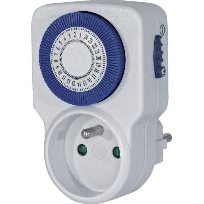 EU Fdit Prise Programmateur Contr/ôleur de Sortie de Minuterie programmable num/érique de 7 Jours pour Les Ventilateurs et Les Appareils /électrom/énagers
