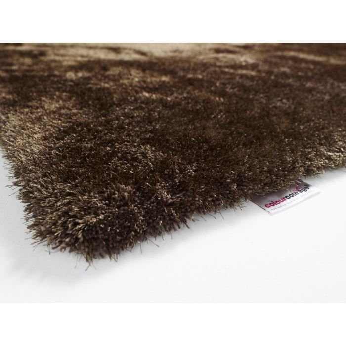 tapis shaggy colour courage mud marron achat vente tapis cdiscount - Tapis Marron