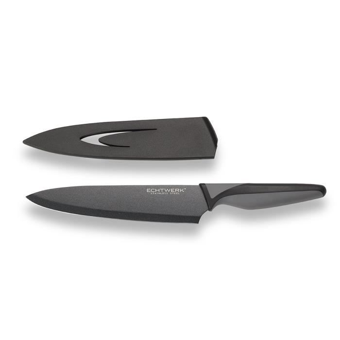 COUTEAU DE CUISINE  Echtwerk eW-SS - 0110 «blackSteel en Acier-Couteau