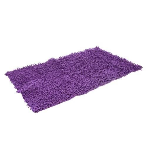 tapis salle de bain chenille violet achat vente tapis de bain cdiscount. Black Bedroom Furniture Sets. Home Design Ideas