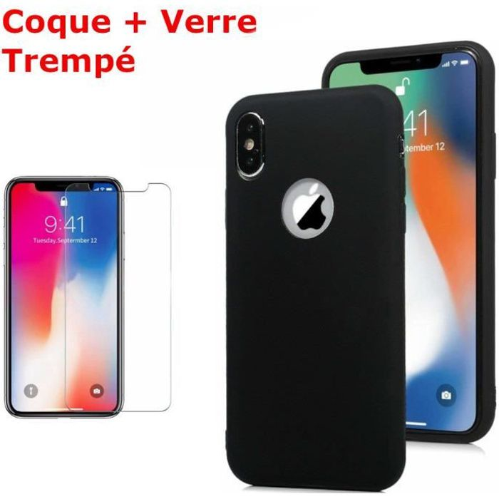 coque silicone iphone xr noir