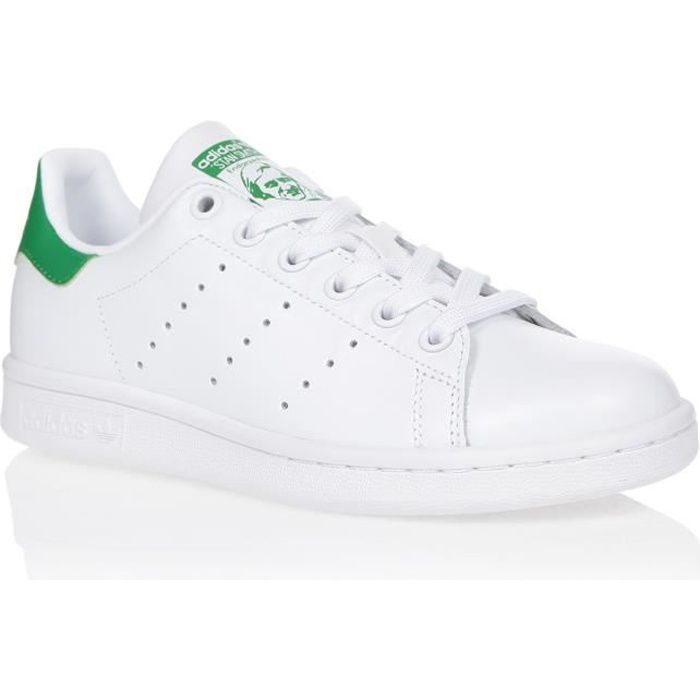 ADIDAS ORIGINALS Baskets STAN SMITH - Femme - Blanc/Vert