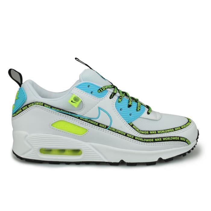 Nike Air Max 90 SE Worldwide Blanc Blanc - Cdiscount Chaussures