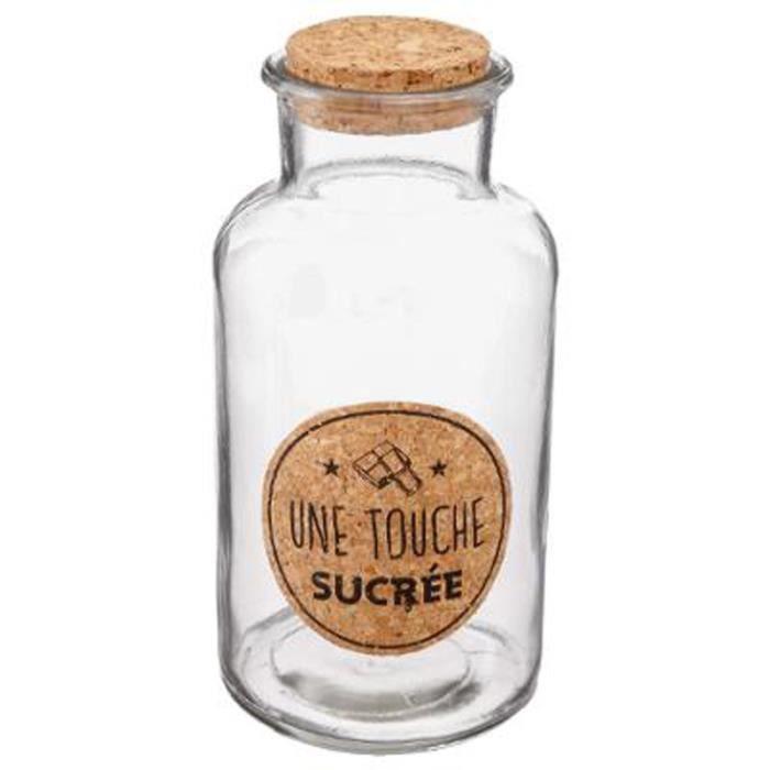 Petit verre clair liège couvercle bouteilles bocaux fête bonbons table de mariage faveurs 6x7