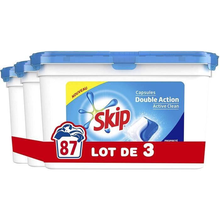 LESSIVE SKIP Lessive Double Action Duo Active Clean - 87 L