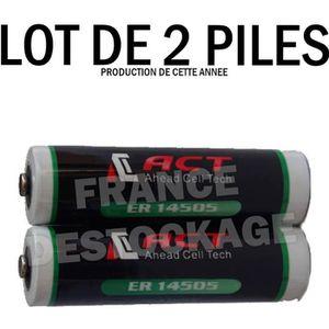 PILES LOT DE 2 PILES LITHIUM 3.6V AA ER14505 LS14500 ER1