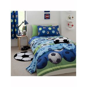 HOUSSE DE COUETTE Catherine Lansfield Football bleu simple housse de