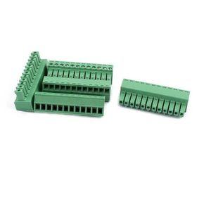 15Pcs AC300V 8 A 3.81 mm pitch 6P bornier fil de connexion pour carte de circuit imprimé de montage