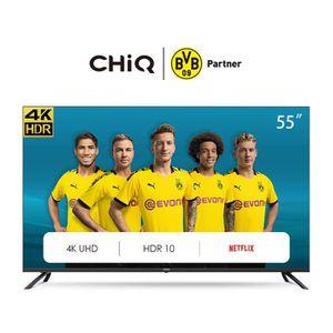 Téléviseur LED CHiQ U55H7L UHD 4K Smart TV, 55 Pouces(139cm), HDR