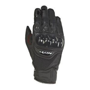 Gants de moto pour l/ét/é en cuir R-Tech et tissu extensible avec renforts au niveau des articulations Doublure douce