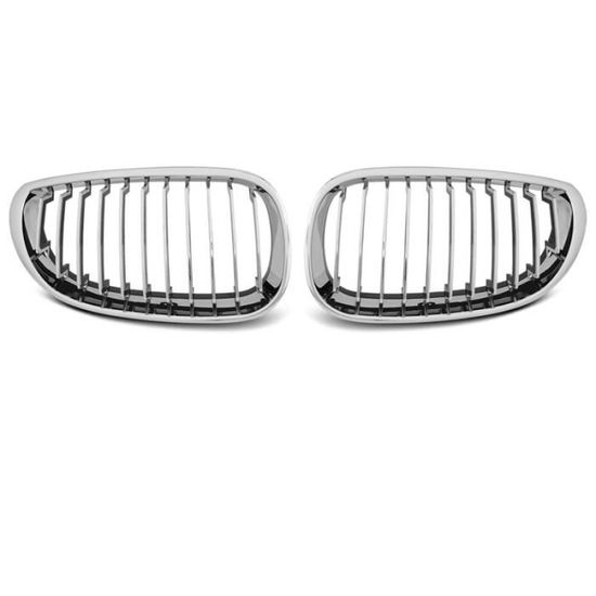 Paire de grilles de calandre pour BMW serie 1 E87//E81//E82//E88 07-13 chrome