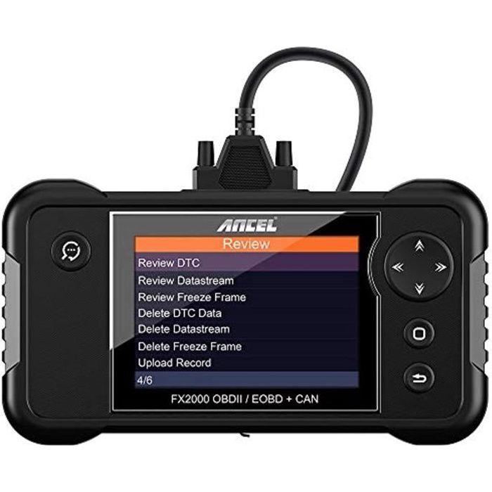 ANCEL FX2000 Scanner OBD2 Voiture Multimarque 4 Systèmes Diagnostic Auto Moteur/ABS/SRS(Airbag)/Boite Automatique à Vitesse en franç