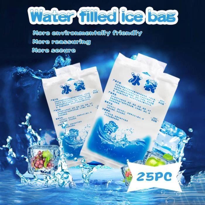 Pochettes réutilisables de refroidisseur de glace de gel de 25 pièces pour les poches froides de refroidisseur de pique-nique de
