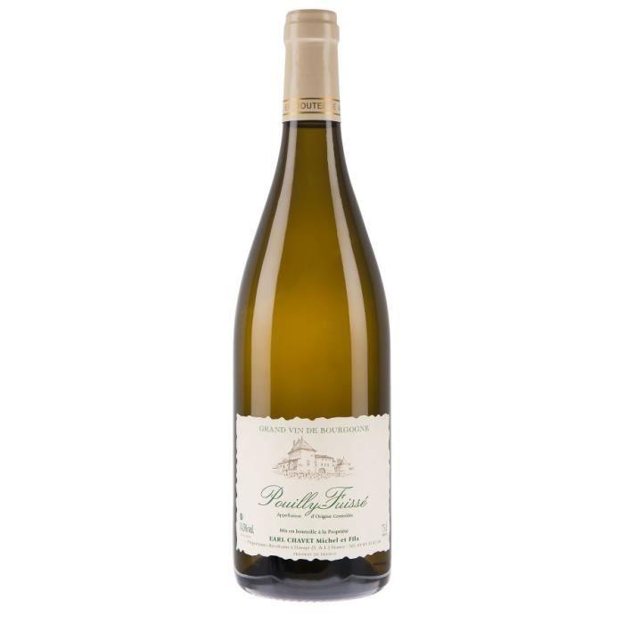 Pouilly Fuissé 2019 Domaine Chavet - 75 cl - Vin Blanc AOP de Bourgogne - Cépage Chardonnay