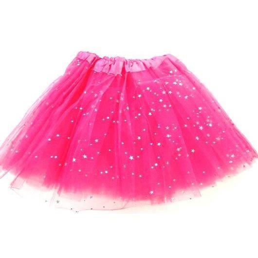 Jupe Tutu de danse enfant en tulle Strass Étoiles taille unique élastique