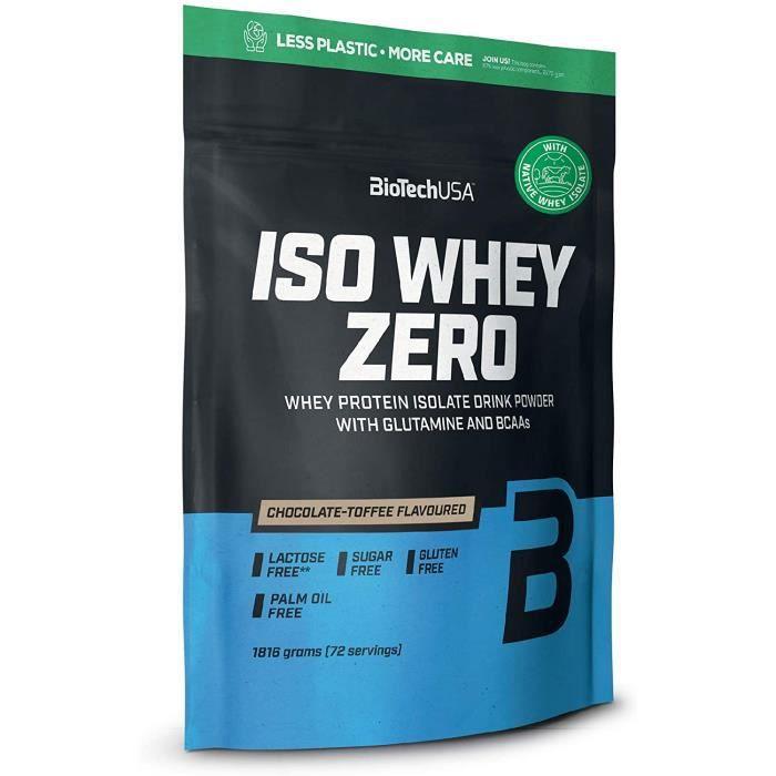 BioTechUSA Iso Whey ZERO, Lactose, Gluten, Sugar FREE, Premium Whey Protein Isolate, 1.816 kg, Chocolat-Toffee194