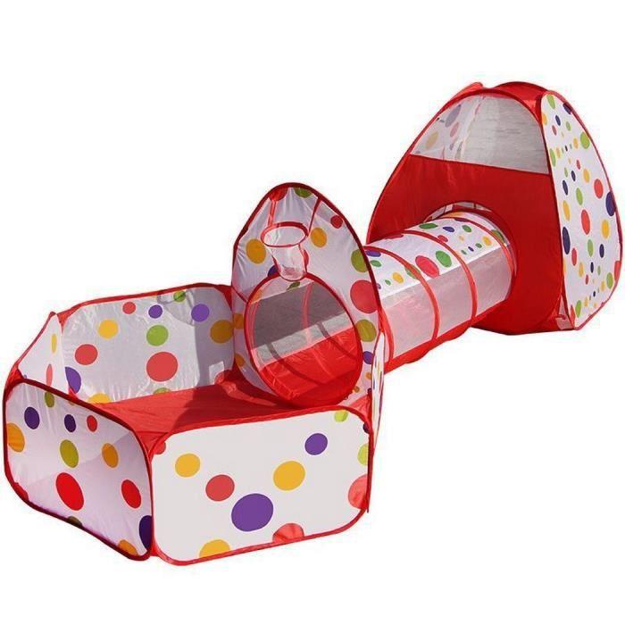 Tente de Jeu pour Enfants Maison et Tunnel Tente igloo Pop Up Tunnel Tente Piscine à boules avec tunnel Maison de Jouet