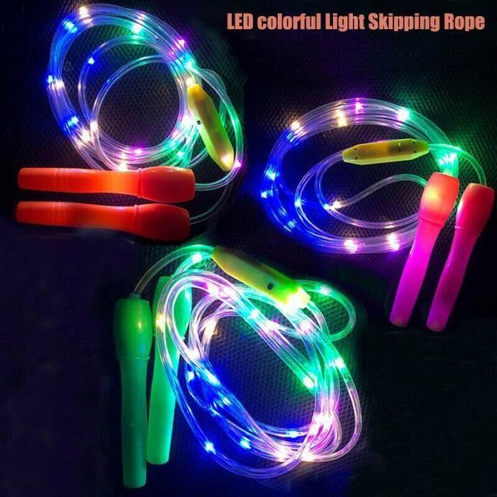 Éclairer les cordes à sauter Led sauter couleur aléatoire enfants enfants unique corps lumineux exercice F - HSJSTSA02879